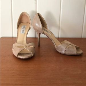 Jimmy Choo Nude Sandals/Heels. Good condition.